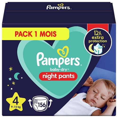 Pampers Baby-Dry Night Windelhöschen - Pampers Night Pants Bieten Zusätzlichen Schutz Die Ganze Nacht, Größe 4 - 156 Windeln - 9-15 kg