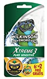 Wilkinson - Xtreme 3 Pure Sensitive - Rasoirs jetables masculins - Pack de 8