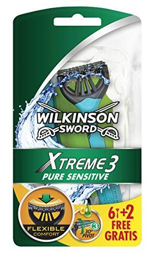 Wilkinson Xtreme 3 Pure Sensitive - Maquinilla de afeitar (8 unidades)