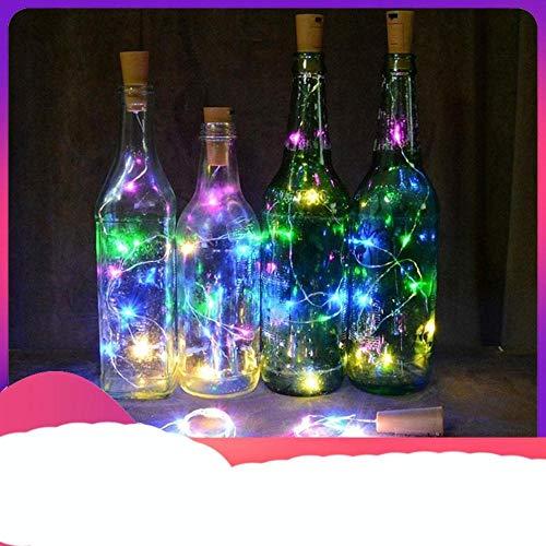 OQQE Luces de Corcho de Botella de Vino de 9 Colores, Luces de Cadena de Alambre de Cobre para decoración de Fiesta de Boda, 1 M / 2 M/tapón de Vino, Blanco 1 m