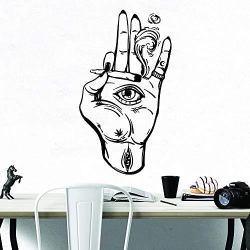 zhuziji Demenz Wandaufkleber Sex , Schöne Hand S Material Company Home Nordischen Stil Selbstklebende Kunst Aufkleber Wasserdicht Home Schlafzimmer Dekoration Vi64x114cm