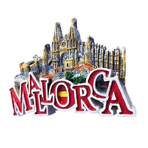 Weekinglo Souvenir Imán de Nevera Búho Mallorca España 3D Resina Artesanía Hecha A Mano Turista Ciudad de Recuerdos de Recuerdos Carta de Refrigerador Etiqueta