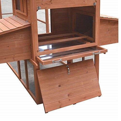 Hühnerstall / Hühnerhaus mit Freigehege aus Holz ca. 310 x 150 x 150 cm - 4