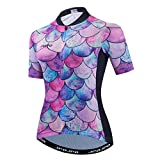 weimostar Camisetas de ciclismo para mujer de manga corta transpirable Bicicletas Tops Senderismo Running Ciclismo Ropa deportiva, Mujer, 23, Tag M for Max Chest 36.2'