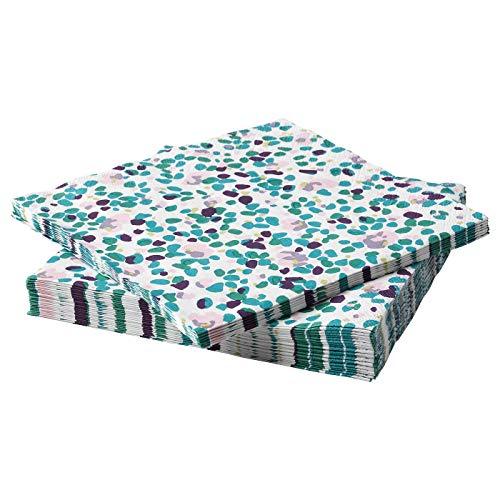 IKEA TACKSAMHET - Servilletas de papel (3 capas, 33 x 33 cm, 90 unidades)