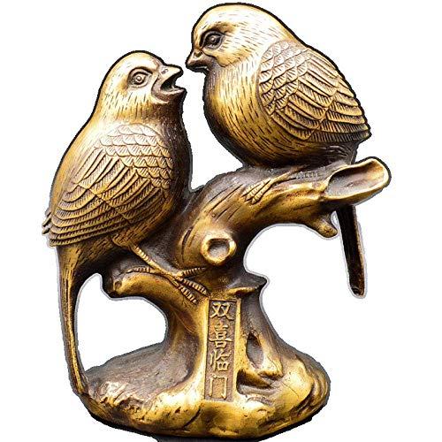 Mnjin Decoracin del hogar Estatuas y estatuillas Escultura de Arte Coleccionable Ornamento de la Estatua Pareja de latn Urraca Decoracin de Animales Decoraciones de Boda para el hogar