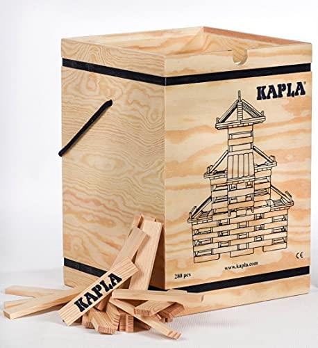 【積木・カプラ <カプラ280(白木)+デザインブック(中級・赤)>木箱入り】【正規輸入品】