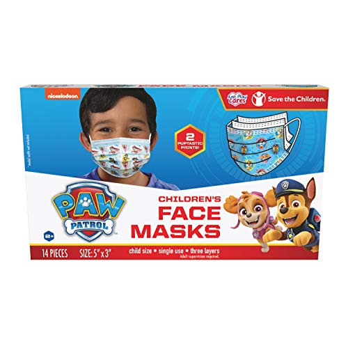 Just Play Children's Single Use Face Mask, Paw Patrol, 14 Count, Small, Ages 2-7