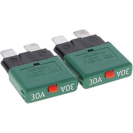 12v Auto Mini Manuelle Sicherungsschalter Schutzschalter Schalter 30a Grün Auto