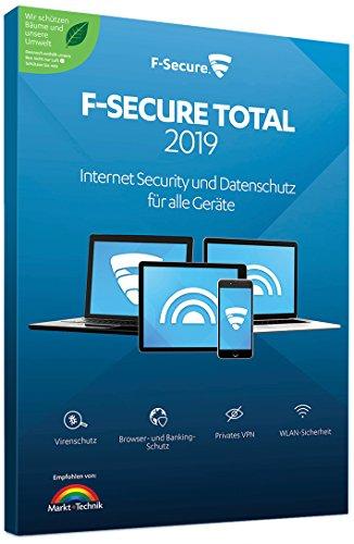 F-Secure TOTAL Security und VPN 2019 - 1 Jahr / 3 Geräte für Multi Plattform (PC, Mac, Android und iOS)