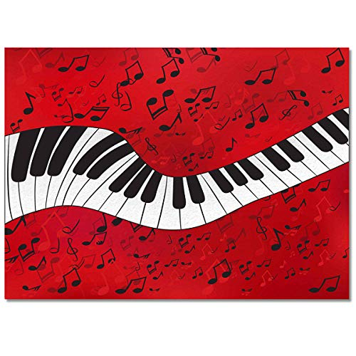 T&H XHome Chic Area Rug Collections-Luxury Ultra Soft Comfort Anti Slippery,Piano Music Note Pattern Modern Carpet Mat Rugs for Indoor/Bedroom/Living Room Decor