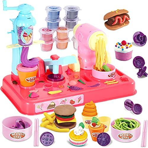 LUBINGT plasticinas Noodle Maker Niños DIY Plasticine Fideos Maker Máquina de Helado Molde Play Toy Fun Modeling Dough Playset para niñas y niños # 20 (Color : Multicolor)