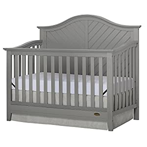 Dream On Me Ella 5 in 1 Storm Grey Convertible Crib