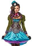 shoperama Damen Kostüm Leg Avenue - Deluxe Mad Hatter - Alice im Wunderland verrückter Hutmacher, Größe:L