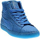 PUMA Mens Suede Mid Me Iced Casual Sneakers, Blue, 7.5