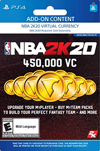 NBA 2K20: 450000 VC Pack - [PS4 Digital Code]