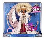 L.O.L. Surprise!- LOL Surprise Holiday OMG 2021 Muñeca de Moda NYE Queen Dorados, Accesorios y Sopor...
