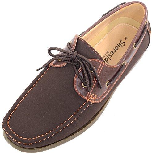 Chaussures bateau à lacets Mocassins Pour homme Style...