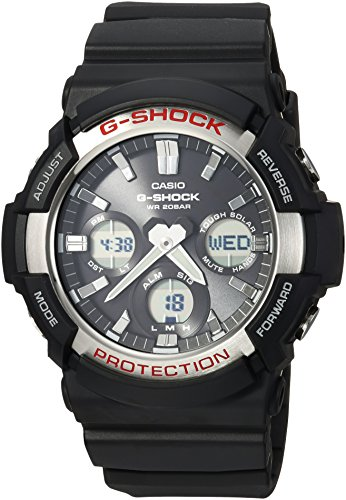 Casio G Shock Quartz Resin Strap, Black, 28 Casual Watch (Model: GAS-100-1ACR )