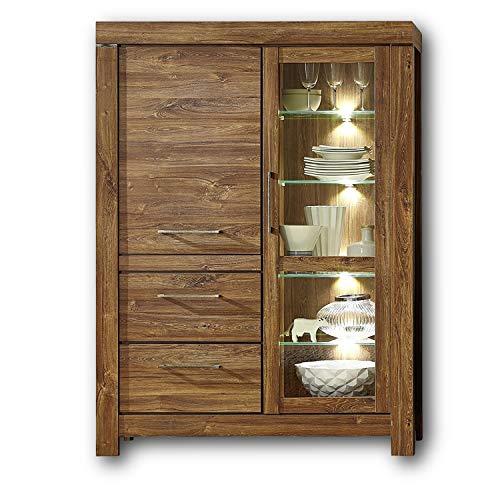 Peter GTCC901003 Vitrine, Holz, braun, 42 x 115 x 158 cm