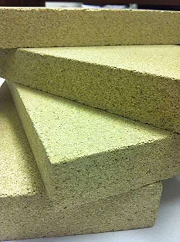 Lot de 10briques réfractaires en vermiculite 22,9x 11,4x 2,5cm Compatible avec poêles Villager.