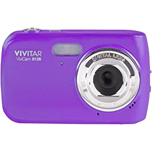 Vivitar VF126 14.1 MP Digital Camera with 1.8-Inch LCD Screen and Anti-Shake/Face Detection - Purple