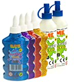Nice Group - Slime Glue Glitter, kit 4 colas surtidos y 2 activadores.