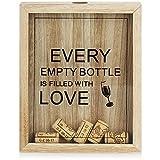 com-four® Colector de Corcho de Vino - Caja de Recogida de Tapones de Botella para colectores de Corcho - Caja de Recogida de Corcho de Vino - colector de Tapa para Colgar