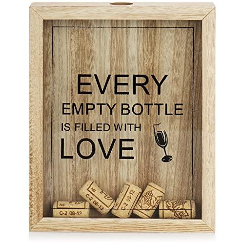 com-four Colector de Corcho de Vino - Caja de Recogida de Tapones de Botella para colectores de Corcho - Caja de Recogida de Corcho de Vino - colector de Tapa para Colgar