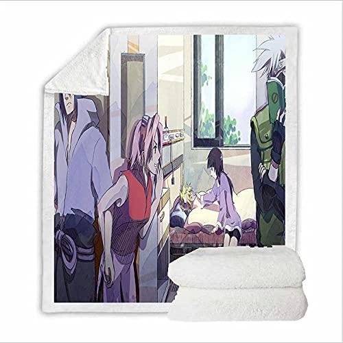Manta de Felpa de Dibujos Animados de Anime Manta de impresión de Coche de Lana Polar sofá Cama Dormitorio-a_150X200CM