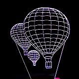 ZLX Lámparas de Mesa Globo aerostático LED Colorido Degradado 3D Lámpara de Mesa estéreo Control Remoto táctil USB Luz de Noche Escritorio Mesita de Noche Decoración Creativa Adornos de Regalo