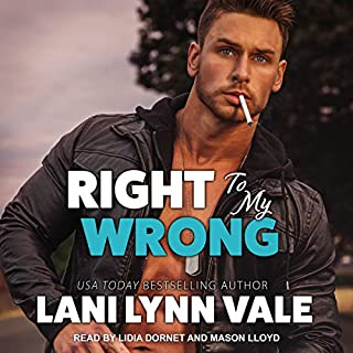 Right to My Wrong     Heroes of Dixie Wardens MC Series, Book 8              By:                                                                                                                                 Lani Lynn Vale                               Narrated by:                                                                                                                                 Lidia Dornet,                                                                                        Mason Lloyd                      Length: 6 hrs and 28 mins     2 ratings     Overall 5.0