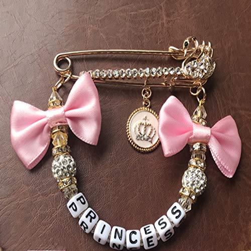 Clip strass Bling rose fictif porte-tétine porte-tétine et poussette chaîne jouet poussette
