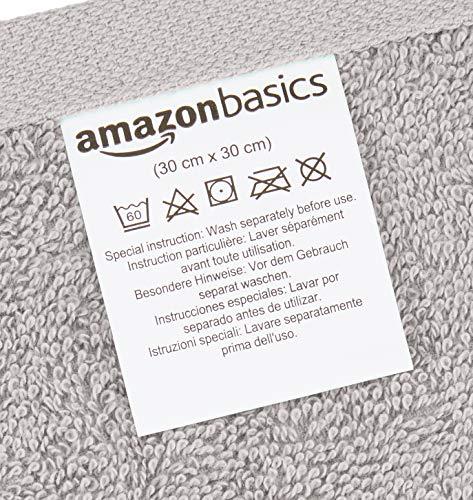 AmazonBasics - Toallas de algodón, 12 unidades, Gris: Amazon.es: Hogar