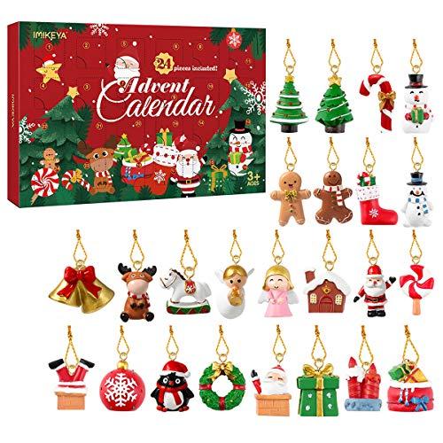 Garneck 2020 Weihnachts Adventskalender, 24 Stück Weihnachtsschmuck Weihnachts Hängende Ornamente Weihnachtsanhänger für Mädchen und Jungen