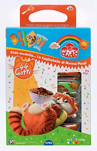 Didò- Giocacrea Tagliatelle 44 Gatti Pasta Modellabile, Colore Assortiti, 360900