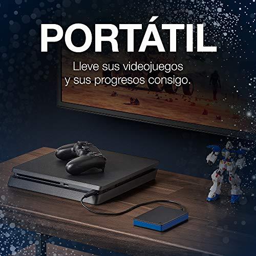Seagate Game Drive, 2 TB, Disco duro externo, HDD portátil, compatible con PS4 (STGD2000400)