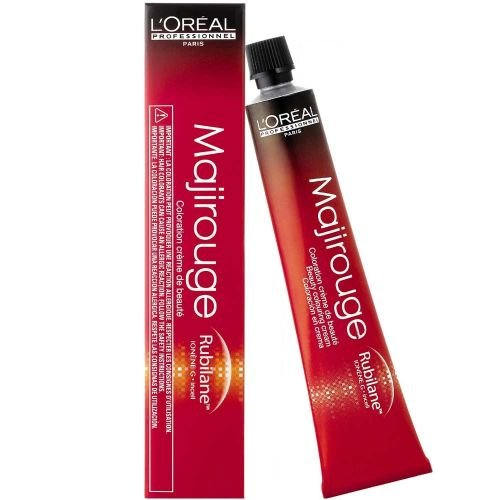 L'ORÉAL Majirouge Rubilane - 7,45 Mittelblond Intensives Kupfer Mahagoni, Tube 50 Ml