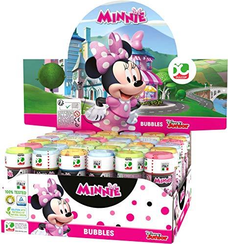 Dulcop- Bolle di Sapone Minnie Disney, Display con 36 Pezzi, Multicolore, 103.538000