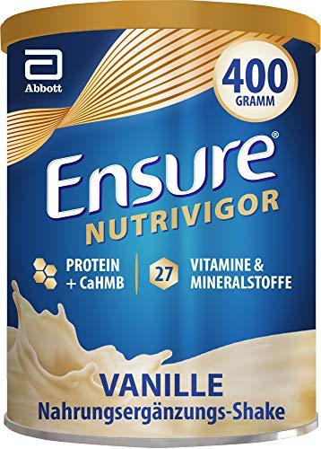 Ensure NutriVigor Vanille – Nahrungsergänzungspulver mit Proteinen – Gluten- und laktosefrei – 1 x 400 g