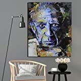 DSGTR Toile d'art Mural Moderne/Pablo Picasso (Pablo Picasso) Autoportrait/Mur Suspendu Couloir Bar Club