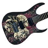DesignDivil Calcomanía de Vinilo para Guitarra, con impresión de Aire Laminado, Personalizable Zombie Skulls GS17