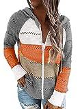 BLENCOT Sudadera Mujer con Capucha Mujer Cárdigan Mujer Sudaderas con Cremallera Mujer Sweatshirt Suéter Mujer...