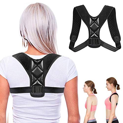Schultergurt Haltungskorrektur, OUZIGRT Verstellbare Haltungskorrektor für Männer oder Frauen, Hochelastisch Atmungsaktiver, Rücken Geradehalter und Korrektur Hunchbacks