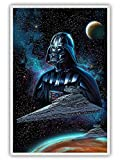 Darth Vader Star Wars Poster Spaceship Canvas Wall Art Prints star wars wall decor star wars pictures for wall for Living room decoration 16x24 inch Unframed (16inx24in-no frame,blue)