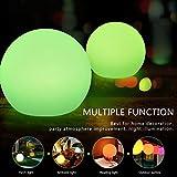 Lámpara de Noche Bola Colgante Lámpara Estroboscópica de Fiesta Navidad LED Luz Dormitorio Lámpara de Control Remoto Multi Colores ( Color : 7.87inch Ball )