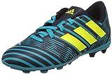 adidas Nemeziz 17.4 FxG J, Chaussures de Football Femme, Multicolore (Legend Ink F17/solar Yellow/Energy Blue S17), 37 1/3 EU