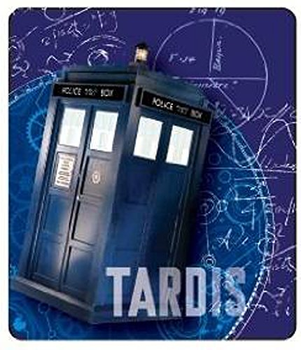 Doctor Who Gears Tardis Throw Blanket, 50x60, Blue