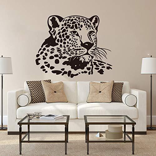 wopiaol Wandaufkleber Neu gestaltete Geparden VinylBarber Shop Dekoration Aufkleber Aufkleber Wandbilder Wandaufkleber