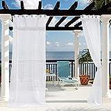 Outdoor Vorhänge Weiss - winddicht, wasserdicht für Gartenlauben & Balkon